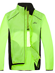 preiswerte -Miloto Herrn Fahrradjacke Fahhrad Jacke / Windjacken Windundurchlässig, Reflexstreiffen Grün / schwarz Fahrradbekleidung