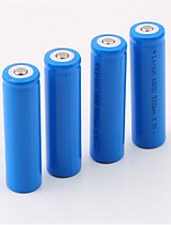 baratos -18650.0 Bateria 5000 mAh 4pçs Recarregável para Campismo / Escursão / Espeleologismo