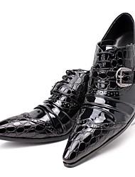 Недорогие -Муж. Обувь для новинок Кожа / Искусственная кожа Наступила зима На каждый день Туфли на шнуровке Высота возрастающей Черный / Свадьба / Для вечеринки / ужина