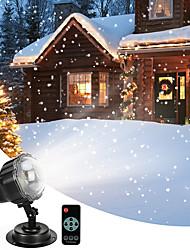 Недорогие -снегопад проектор привело рождественские огни водонепроницаемый вращающийся мини проекции снежинка лампа с беспроводной пульт дистанционного управления для Хэллоуин партии свадьбы и сада украшения