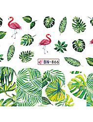 Недорогие -5 pcs Наклейка для переноса воды В форме листа / Фрукт маникюр Маникюр педикюр Новый дизайн / Лучшее качество / Высокое качество, отсутствие формальдегида тропический / Милая