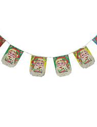 Недорогие -Новогодние флажки Праздник Ткань Квадратный Оригинальные Рождественские украшения