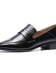 abordables -Femme Chaussures de confort Cuir Nappa Automne Mocassins et Chaussons+D6148 Talon Bas Noir / Beige