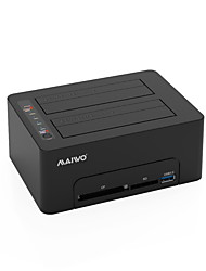 baratos -MAIWO Gabinete do disco rígido Resina ABS USB 3.0 K3082CR双盘底座