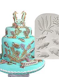 Недорогие -Инструменты для выпечки Силикон Новое поступление Милый Креатив Торты Печенье Многофункциональный Прямоугольный Десерт Декораторы 1шт