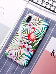 Недорогие -Кейс для Назначение Apple iPhone XR / iPhone XS Max С узором Кейс на заднюю панель Фламинго Твердый ПК для iPhone XS / iPhone XR / iPhone XS Max