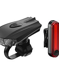 Недорогие -Светодиодная лампа Велосипедные фары Передняя фара для велосипеда Горные велосипеды Велоспорт Водонепроницаемый Быстросъемный Градиент цвета Литий-ионная 100 lm AAA-батарея Работает от USB Красный