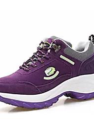 Недорогие -Жен. Комфортная обувь Замша Зима Спортивные Спортивная обувь Беговая обувь На низком каблуке Черный / Лиловый / Пурпурный