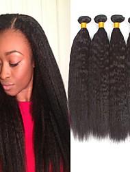 voordelige -4 bundels YakiRecht 8A Echt haar Niet verwerkt Menselijk Haar Menselijk haar weeft Verlenging Bundle Hair 8-28 inch(es) Natuurlijke Kleur Menselijk haar weeft Pasgeboren Cosplay Voor donkere