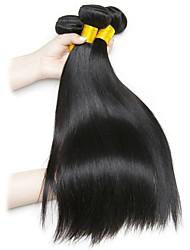 Недорогие -6 Связок Малазийские волосы Индийские волосы Прямой 8A Натуральные волосы Необработанные натуральные волосы Подарки Человека ткет Волосы Сувениры для чаепития 8-28 дюймовый Естественный цвет