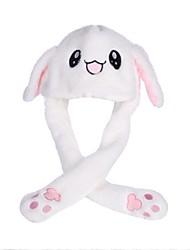 Недорогие -Rabbit Модная движущаяся шляпа Пижамы кигуруми Мягкие и плюшевые игрушки Очаровательный Милый Ущипь уши кролика может перемещаться с помощью подушки безопасности 70% акрил / 30% хлопок Все Игрушки