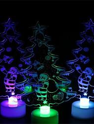 abordables -Décorations de vacances Décorations de Noël Eclairage de Noël Décorative Multi-couleurs 1pc
