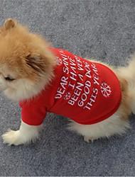 Недорогие -Собаки / Коты Жилет Одежда для собак Цитаты и выражения / В снежинку Красный Флис Костюм Для домашних животных Универсальные Классика / Рождество