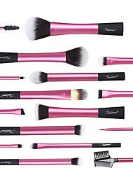 abordables -16pcs Pinceaux à maquillage Professionnel ensembles de brosses Synthétique Plastique