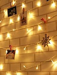baratos -10m Cordões de Luzes 100 LEDs Branco Quente Decorativa 220-240 V 1conjunto