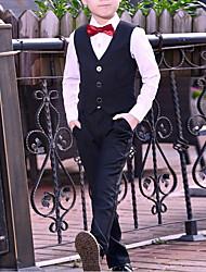 billige -Børn Drenge Gade Ensfarvet Langærmet Tøjsæt