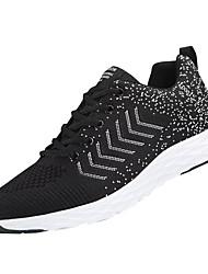 abordables -Homme Chaussures de confort Maille Automne Décontracté Chaussures d'Athlétisme Marche Respirable Noir / blanc / Noir / Rouge / noir / vert