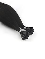 baratos -Neitsi Queratina / Ponta U Extensões de cabelo humano Liso Extensões de Cabelo Natural Cabelo Humano Mulheres - # 6 Ash Brown Marrom Dourado Médio