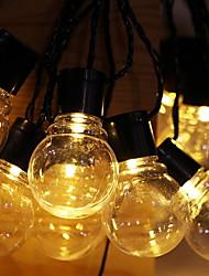 Недорогие -5 метров Гирлянды 30 светодиоды Тёплый белый Работает от солнечной энергии / Декоративная Солнечная энергия 1 комплект