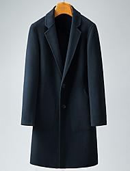 Недорогие -Муж. Пальто Классический - Однотонный