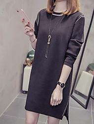 Недорогие -женский выезд свитер / оболочка платье midi
