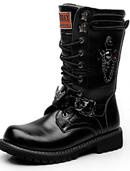 bb97f0a91 Men's Fashion Boots Synthetics Fall & Winter Casual / British Boots Warm Mid -Calf Boots Black / Party & Evening