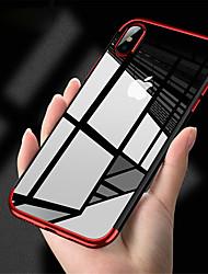 Недорогие -Кейс для Назначение Apple iPhone XR / iPhone XS Max Покрытие / Прозрачный Кейс на заднюю панель Однотонный Мягкий ТПУ для iPhone XS / iPhone XR / iPhone XS Max