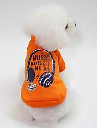 Недорогие -Собаки Толстовка Одежда для собак Персонажи Синий / Розовый / Темно-зеленый Хлопок Костюм Для домашних животных Универсальные На каждый день / Наколенники