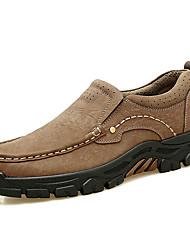 Недорогие -Муж. Официальная обувь Наппа Leather Осень Классика / На каждый день Мокасины и Свитер Массаж Темно-русый