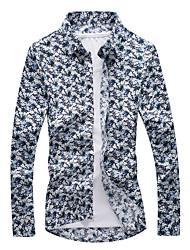Недорогие -Муж. Рубашка Активный / Классический Цветочный принт