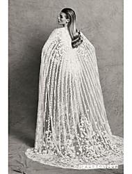 billige -Tube / kolonne Hængende halsudskæring Børsteslæb Blondelukning / Tyl Made-To-Measure Brudekjoler med Blonde ved LAN TING BRIDE®