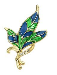 Недорогие -Жен. Смола тропический Броши - В форме листа Стиль, Классический Брошь Зеленый Назначение Подарок / Повседневные