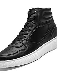 abordables -Homme Chaussures de confort Polyuréthane Automne Décontracté Basket Augmenter la hauteur Blanc / Noir / Noir / blanc