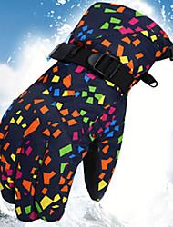 Недорогие -Спортивные перчатки Зимние Лыжные перчатки Жен. Снежные виды спорта Полный палец Зима Регулируется Водонепроницаемость С защитой от ветра Полиэфир / полиамид Тканый хлопок