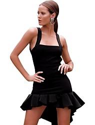 Недорогие -женский пляжный шкаф платье с высокой талией асимметричный ремешок