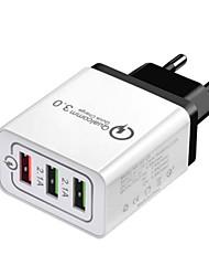abordables -Chargeur Portable Chargeur USB Prise UE Sorties Multiples / QC 3.0 3 Ports USB 2.4 A DC 12V-24V pour S9 / S8 / S7
