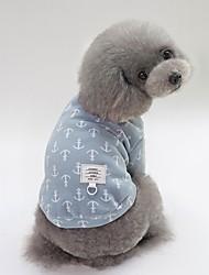 baratos -Cachorros Camisetas Roupas para Cães Padrão / Personagem Amarelo / Azul / Rosa claro Algodão Ocasiões Especiais Para animais de estimação Unisexo Estilo Romântico / Estilo simples