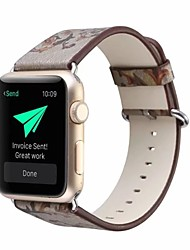 Недорогие -Настоящая кожа / Поли уретан Ремешок для часов Ремень для Apple Watch Series 4/3/2/1 Серый 23см / 9 дюйма 2.1cm / 0.83 дюймы
