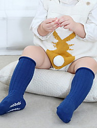 Недорогие -Дети (1-4 лет) Девочки Активный Однотонный Хлопок Белье / носки Темно синий