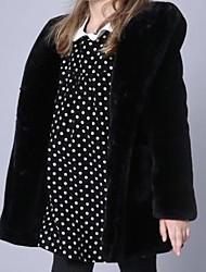 Недорогие -Дети Дети (1-4 лет) Девочки Активный Однотонный Длинный рукав Хлопок Куртка / пальто Черный