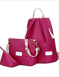 baratos -Mulheres Bolsas Náilon Conjuntos de saco 3 Pcs Purse Set Ziper Vermelho / Rosa / Roxo
