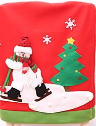 baratos -Cobertura de Cadeira Férias Tecido Festa Decoração de Natal