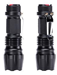billiga Sport och friluftsliv-U'King LED-Ficklampor LED 600 lm 3 Belysning läge Zoombar, Bärbar Vardagsanvändning Svart
