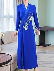 billige -kvinder går ud slanke kappe kjole midi v hals