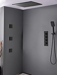 Недорогие -Смеситель для душа - Современный Окрашенные отделки Душевая система Керамический клапан Bath Shower Mixer Taps / Латунь / Четыре Ручки пять отверстий