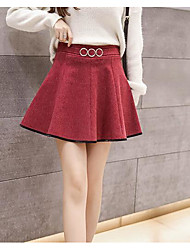 baratos -mini-saias de uma linha feminina - colorido sólido