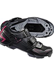 Недорогие -Взрослые Обувь для горного велосипеда Нейлон, стекловолокно, воздушное отверстие,противоскользящие протекторы Дышащий Амортизация Вентиляция Велосипедный спорт / Велоспорт Для велоспорта Черный Жен.