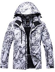 Недорогие -Муж. Лыжная куртка С защитой от ветра, Дожденепроницаемый, Теплый Зимние виды спорта Полиэстер Зимняя куртка / Верхняя часть Одежда для катания на лыжах / Зима