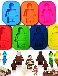 Недорогие -силиконовый робот люди фигура игрушка кирпич человек льда пресс-форма производитель торта
