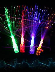 Недорогие -Светодиодный волоконно-оптический луч света пальца светящиеся кольца огни партия пользу